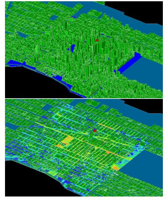NYC simulation model and signal contours